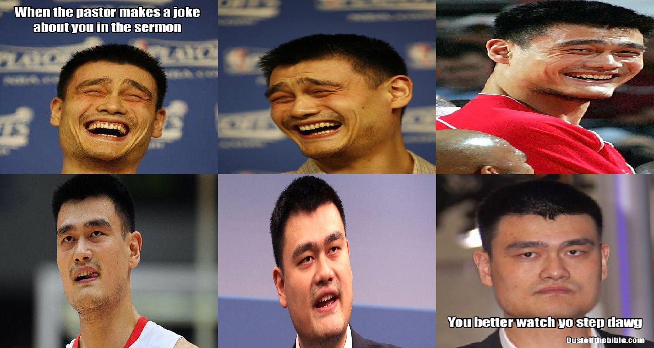 Yao Ming Pastor Church Meme #christian meme #Christianmeme #meme ...