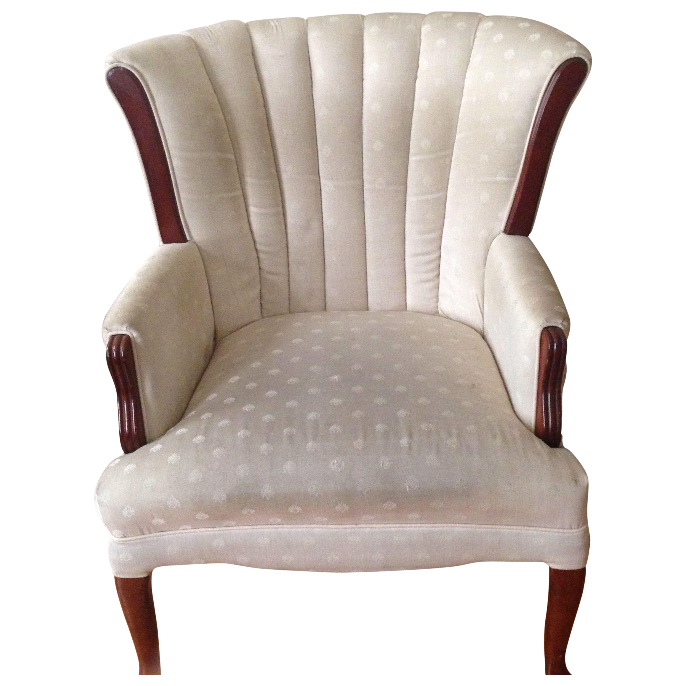 Queen Anne Channel Back Chair on Chairish $200