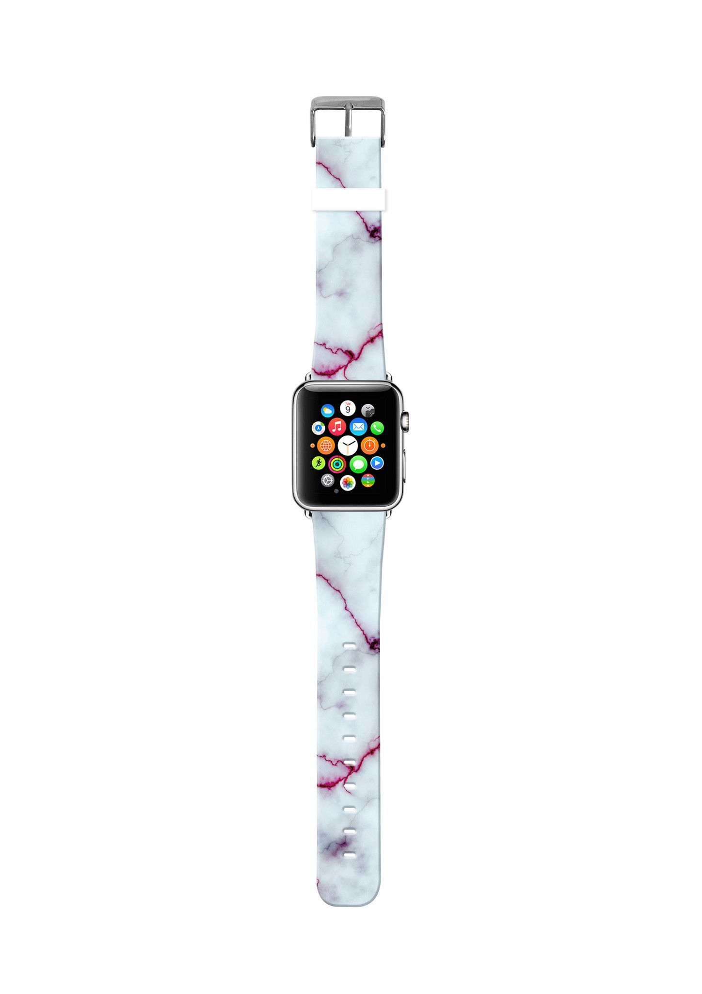 Faux White Red Marble Pattern Apple watch fashion, Apple