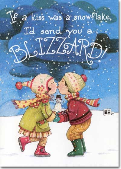 mary engelbreit clip art blizzard 1 card 1 envelope recycled