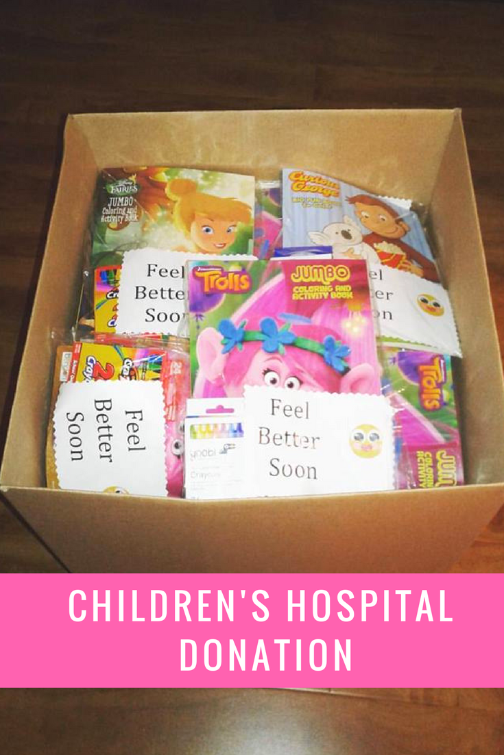 Children S Hospital Coloring Donations Make A Mom Smile Charity Work Ideas Charity Project Service Projects For Kids