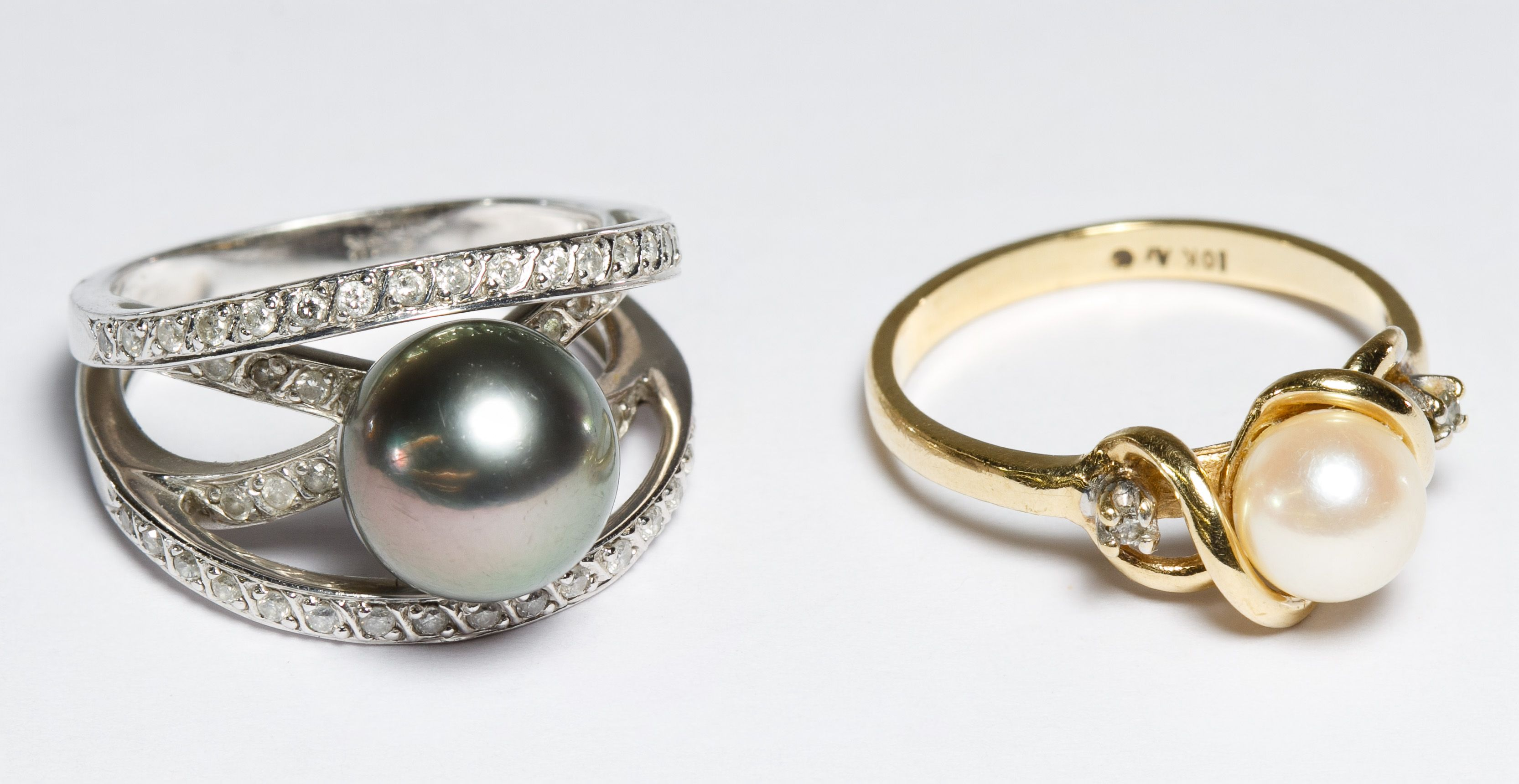 ring two rings lot gold and more pin white pearl explore