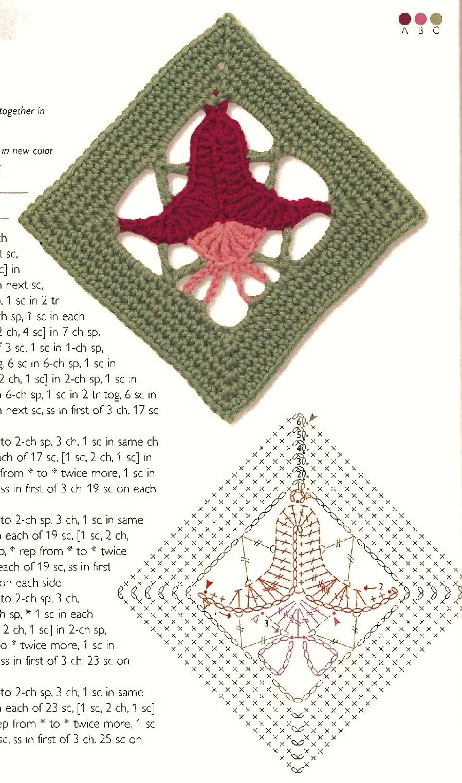 granny square crochet | granny frower squares | Pinterest | Flor ...
