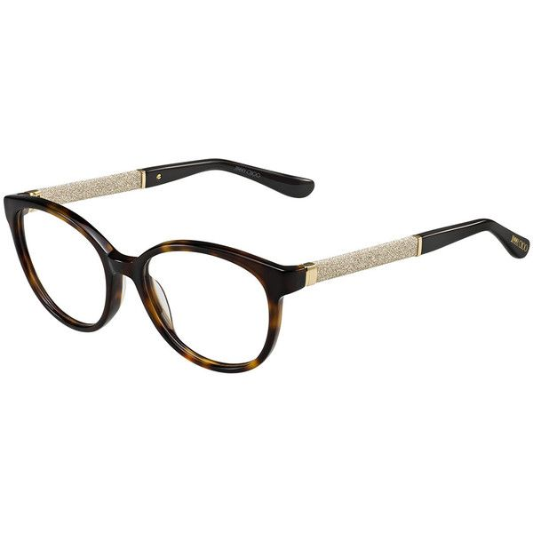 85685aa5184 Jimmy Choo Shimmer-Temple Optical Frame ( 415) ❤ liked on Polyvore  featuring accessories