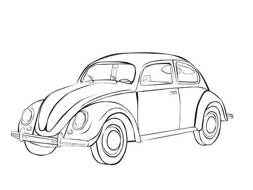 vw beetle coloring pages 10 PreTty ArTy Cars coloring