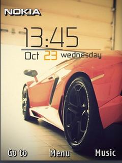 Download Free Sports Car Clock S40 Theme Mobile Theme Nokia Mobile