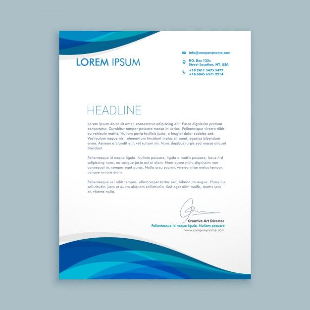 Business Letter Header Template from i.pinimg.com