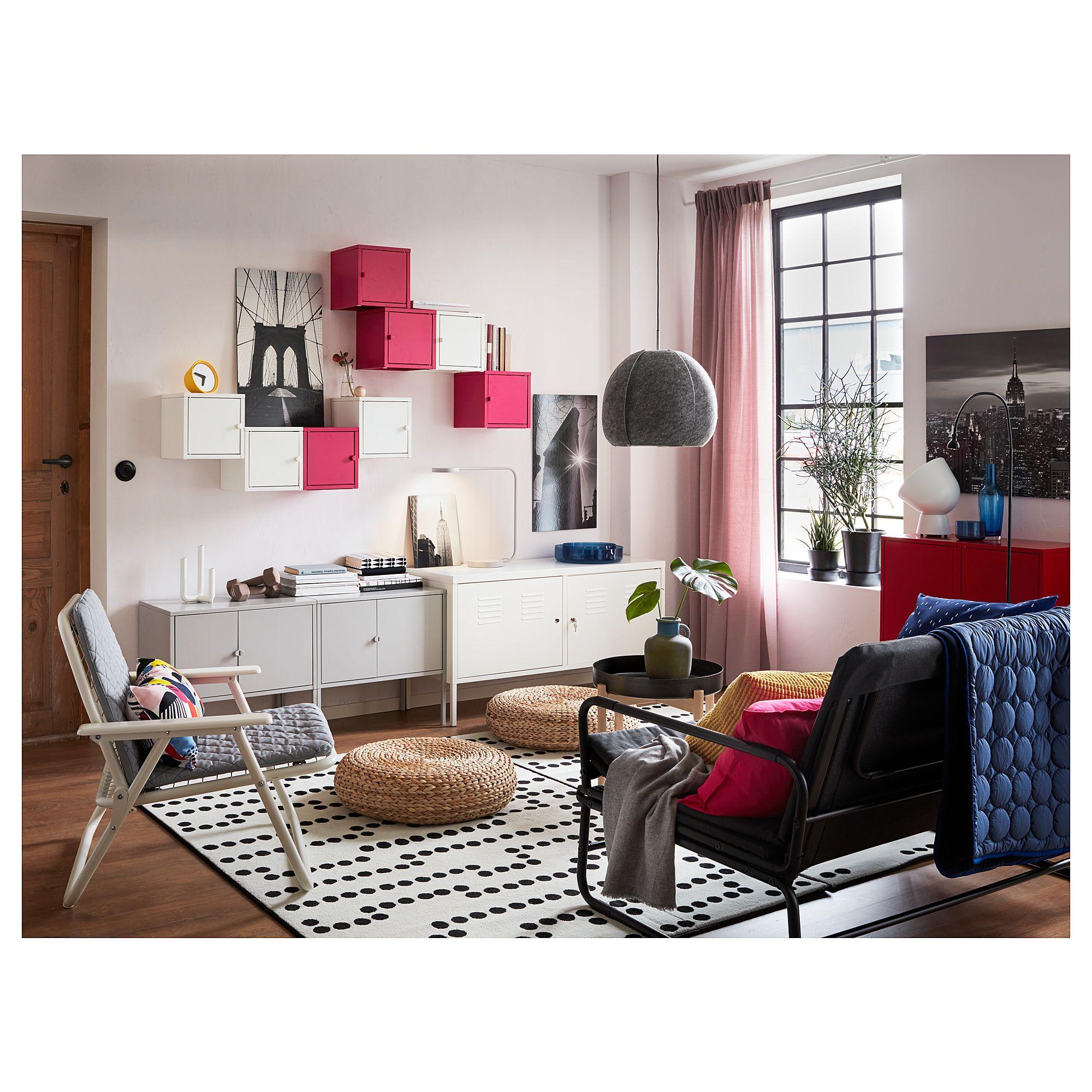 IKEA - LIXHULT Cabinet metal, pink | Ikea living room ...