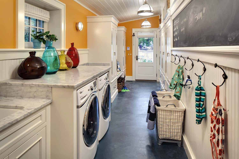 Whimsical Shingle Style Home Features Fabulous Living On Lake Geneva Laundry Room Layouts Shingle Style Homes Home