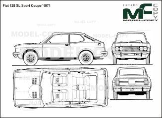 Fiat 128 Sl Sport Coupe 1971 2d Drawing Blueprints Fiat 128