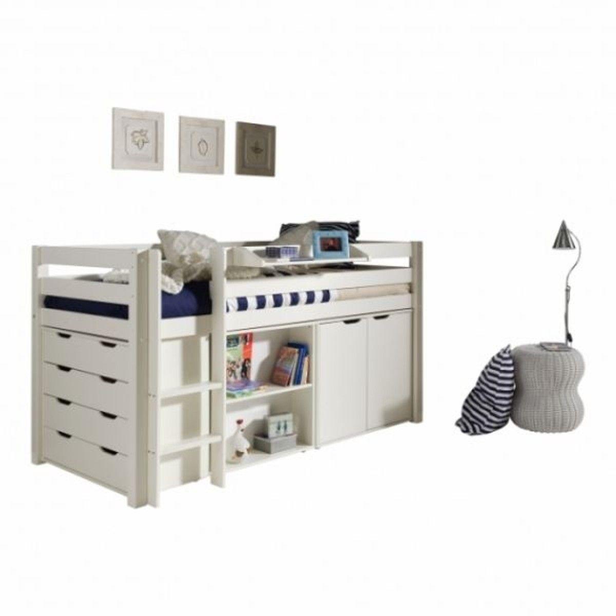 Commode 4 tiroirs pour lit mezzanine mi-hauteur Wild | Lit mezzanine, Mobilier lit, Lit mi hauteur