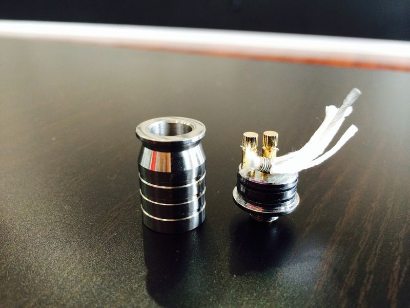 The Smok Mini RDA, also known as the Squid, 16mm