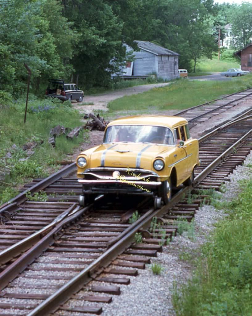 1955 Pontiac rail car supposedly on the Central Vermont Railroad.