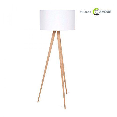 SOLDES Lampadaire Tripod Wood Couleur Blanc Lampadaire style