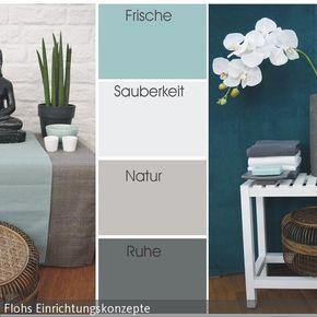Farbkarte Türkis #wohnzimmerideenwandgestaltung