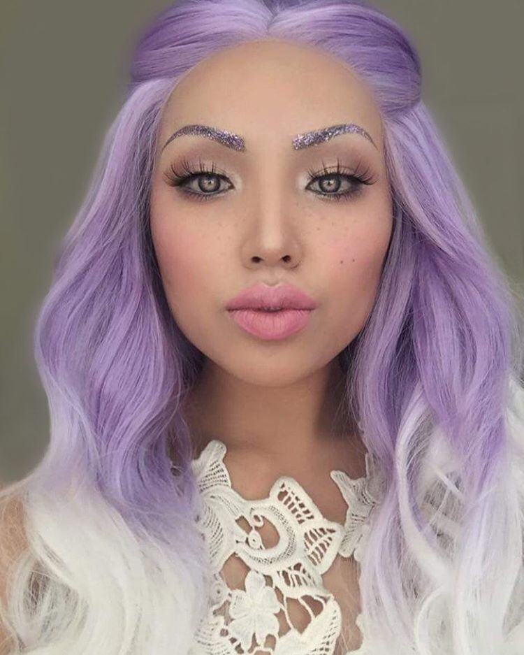 Powder Room D On Instagram Gorgeous Shot Of The Beautiful And Talented Promisetamang Wearing Her Pow Pastel Purple Hair Light Purple Hair Hair Color Purple