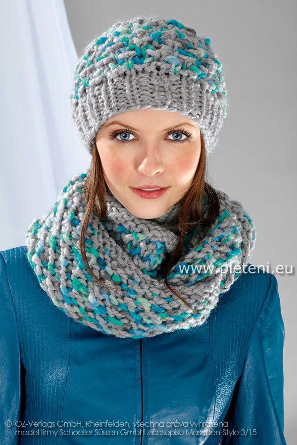Ručně pletená čepice a nákrčník - návod e9e2df72cc
