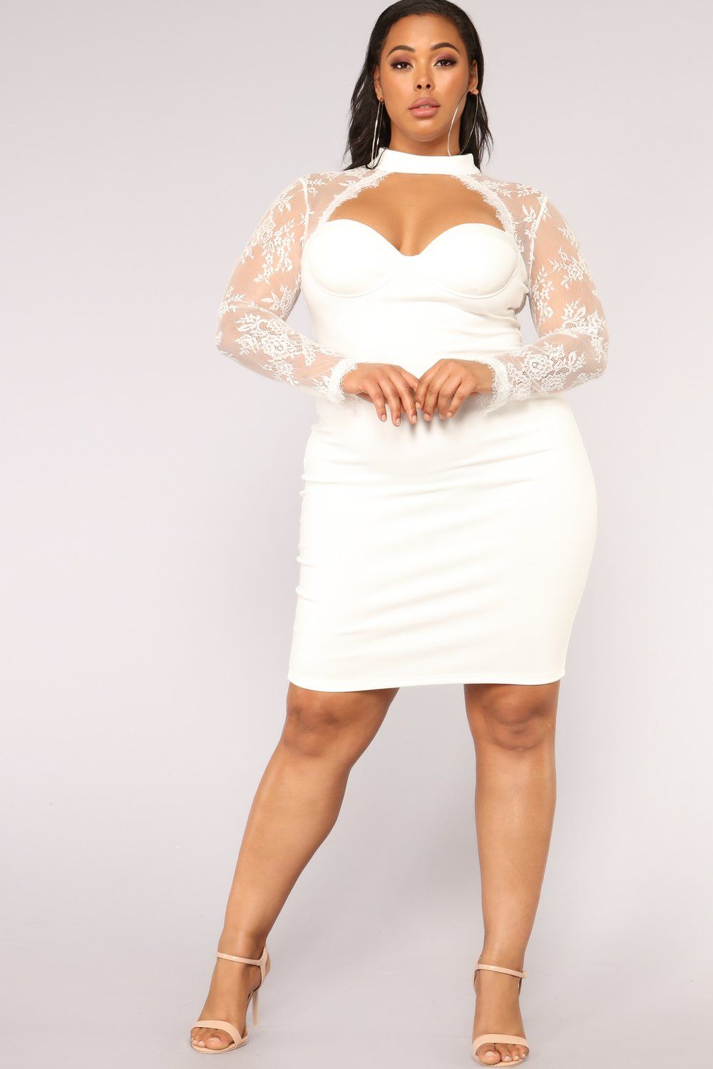White Dresses Fashion Nova Plus Size