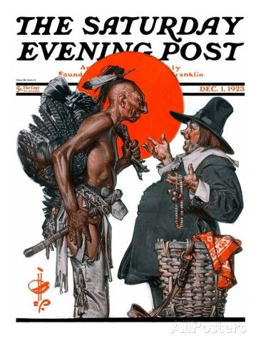 """""""Trading for a Turkey,"""" Saturday Evening Post Cover, December 1, 1923 Giclee Print by Joseph Christian Leyendecker at AllPosters.com"""