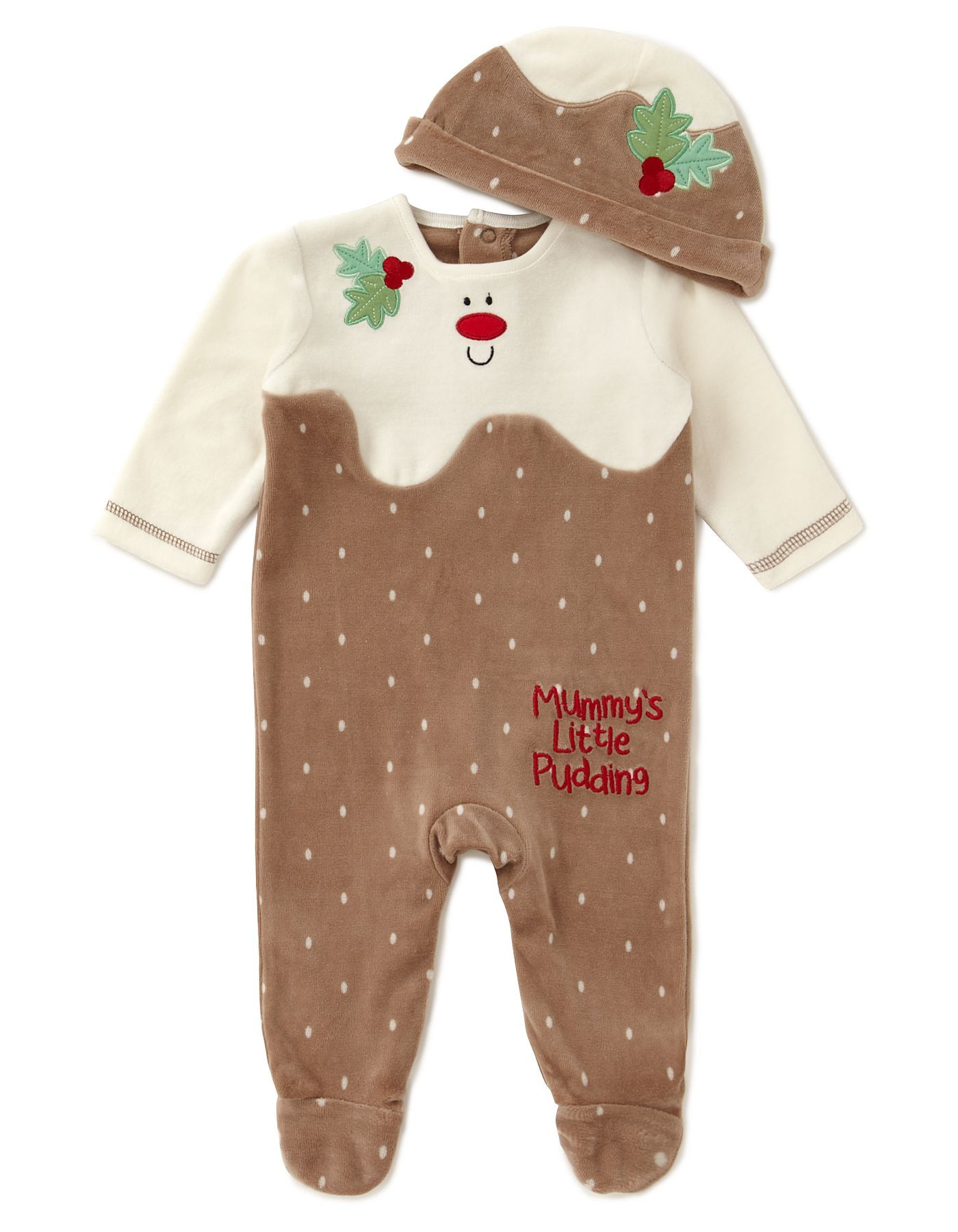 85cd85641 Christmas Pudding Baby All in One | Baby | George at ASDA | Future ...
