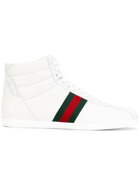 65a7590e7 Shop Gucci Web detail hi-top sneakers.   comics and art   Gucci ...