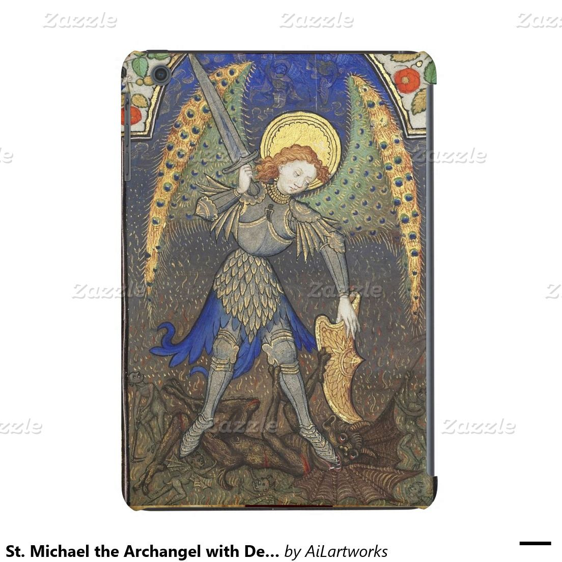 St. Michael the Archangel with Devil iPad Mini Retina Cover