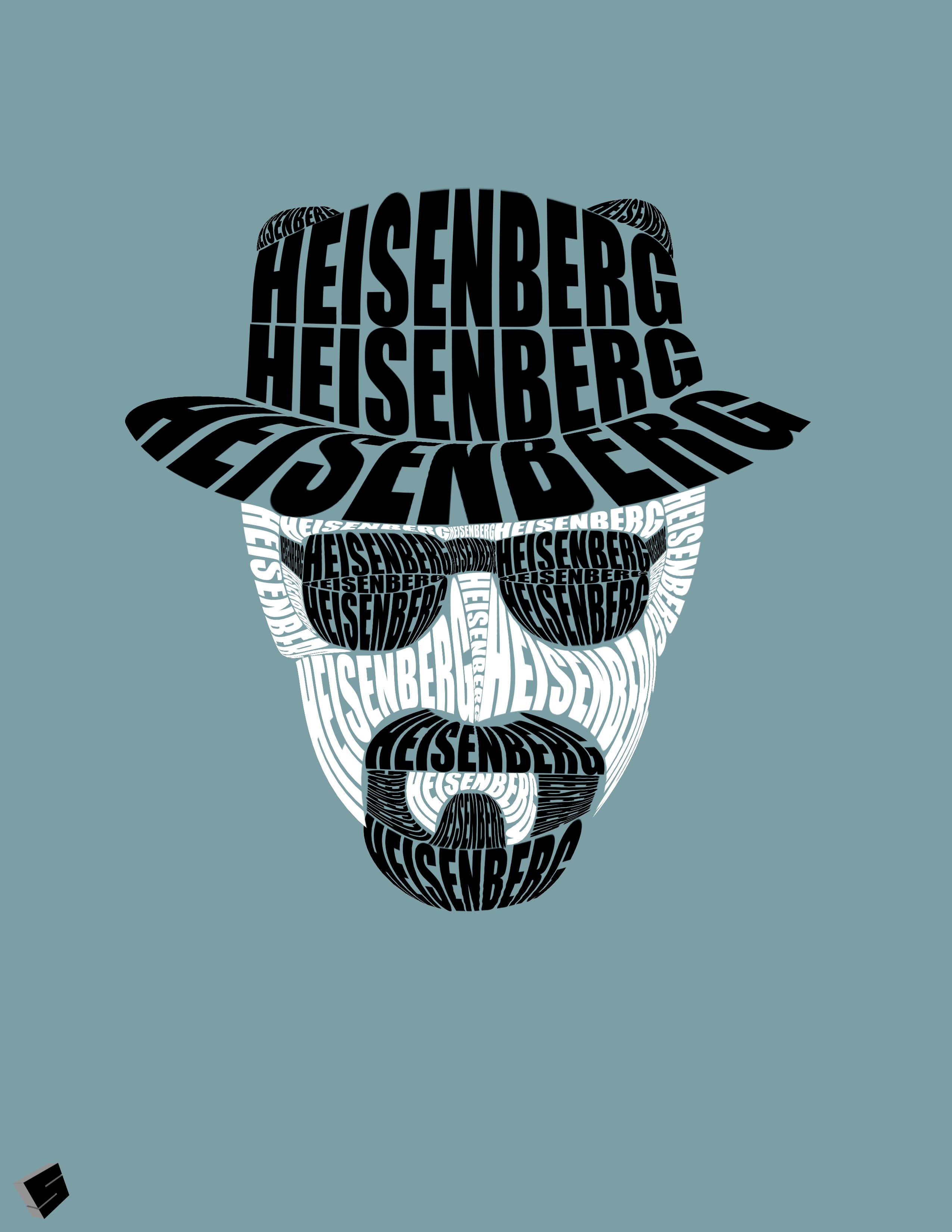 Dr Werner Heisenberg Breaking Bad Art Typography Poster Bad Art