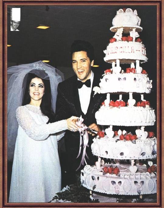 Elvis Priscilla Wedding Cake Topper