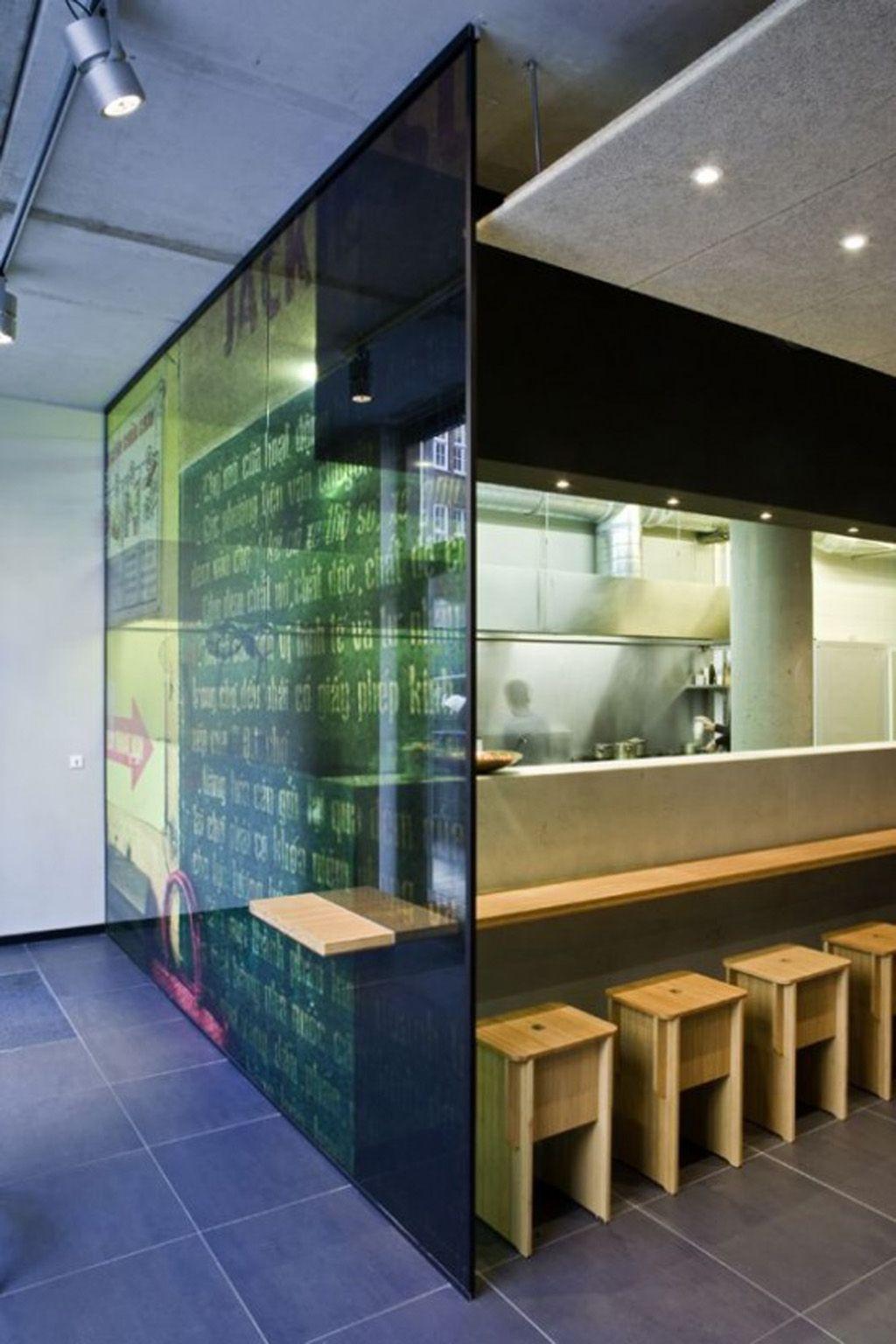 Decorative Glass Divider Idea Restaurant Design Restaurant Interior Restaurant Interior Design