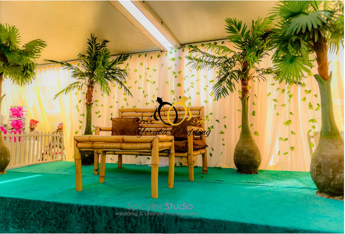 African traditional wedding decor  BEAUTIFUL YORUBA TRADITIONAL WEDDING DECORATIONS  Yoruba