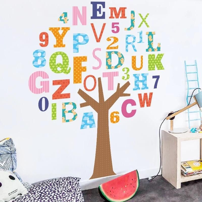 Alphabet Tree Wall Decals In 2019 Playroom Wall Decor