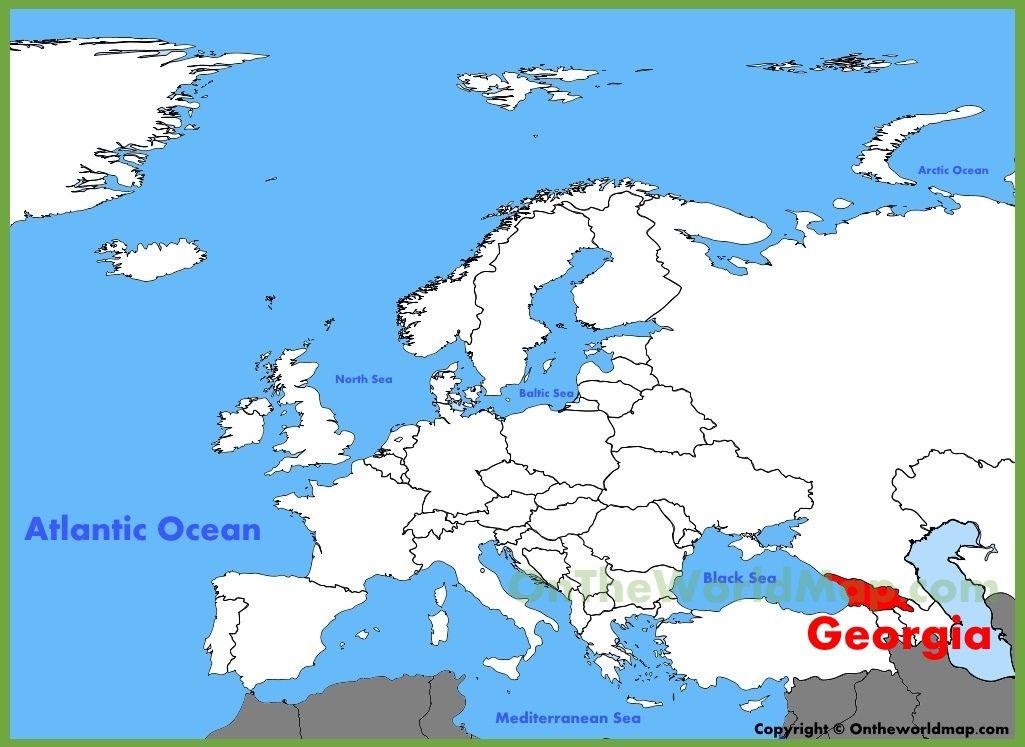 Georgia map Europe   Georgia   Country maps, Romania map, Map