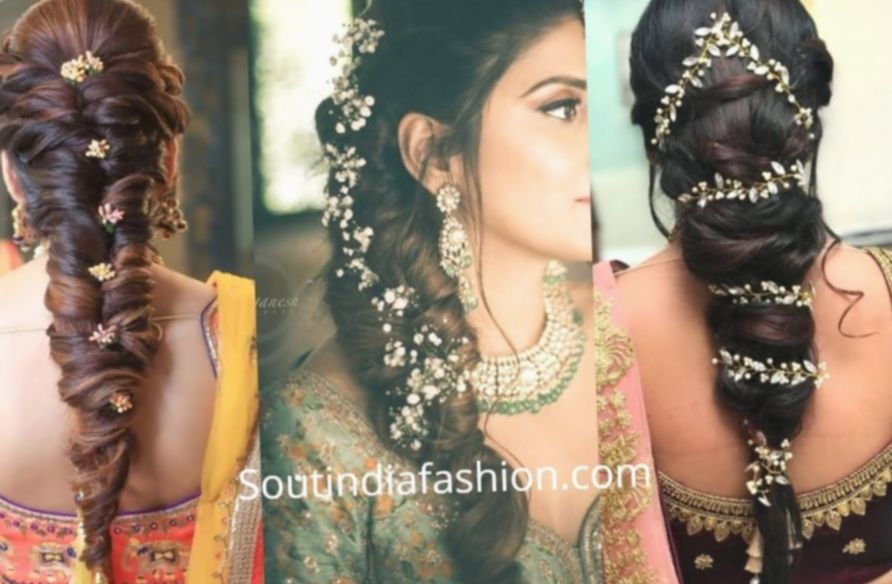 8 Hairstyles For Medium Length Hair Indian Lehenga South Indian Bride Hairstyle Indian Bride Hairstyle Indian Bridal Hairstyles