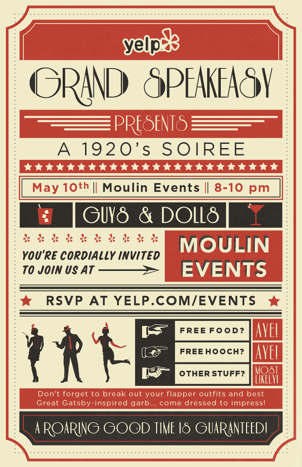 speakeasy party invitation - Google Search | Design ideas ...