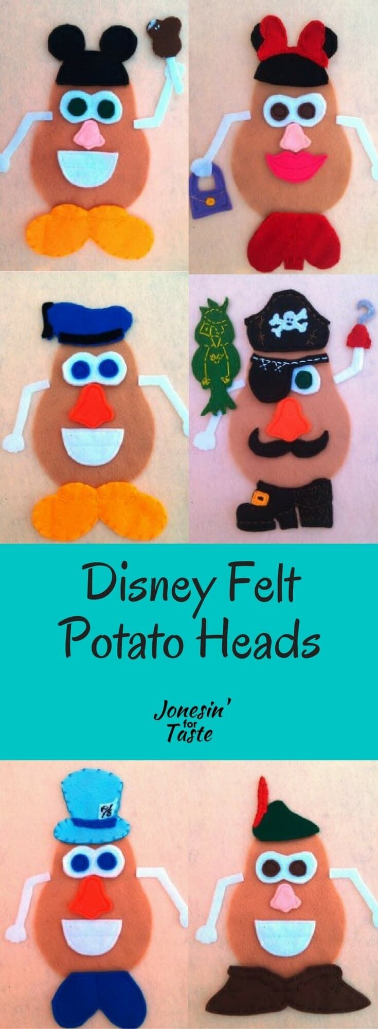 Disney Felt Potato Heads #mousecrafts