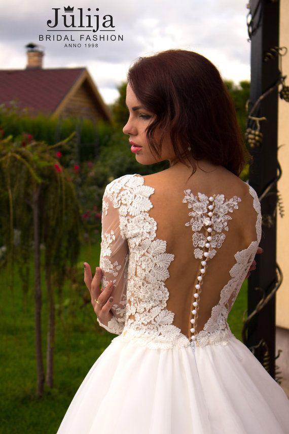 Perlen Hochzeit Spitzenkleid Fabiana. Lace Ball Kleid Hochzeit Kleid ...