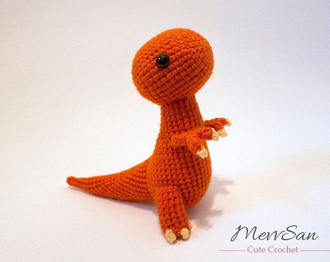 Crochet PATTERN - Amigurumi Tyrannosaurus Rex Dinosaur - t rex ...