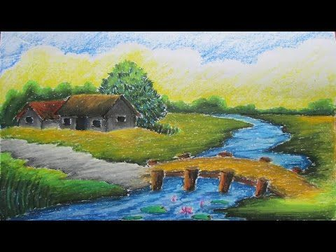 Pastel Tutorial How To Draw A Village Landscape With Oil
