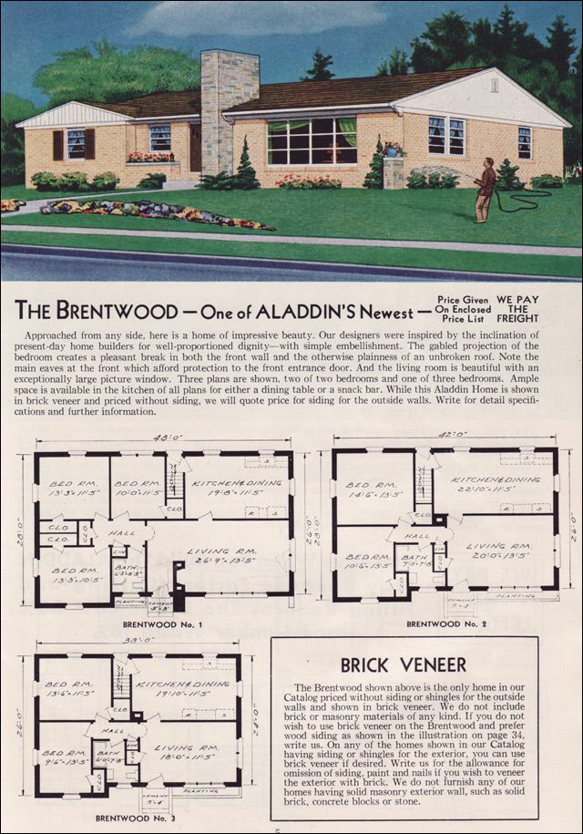 The Brentwood name 1951 Aladdin Kit Homes