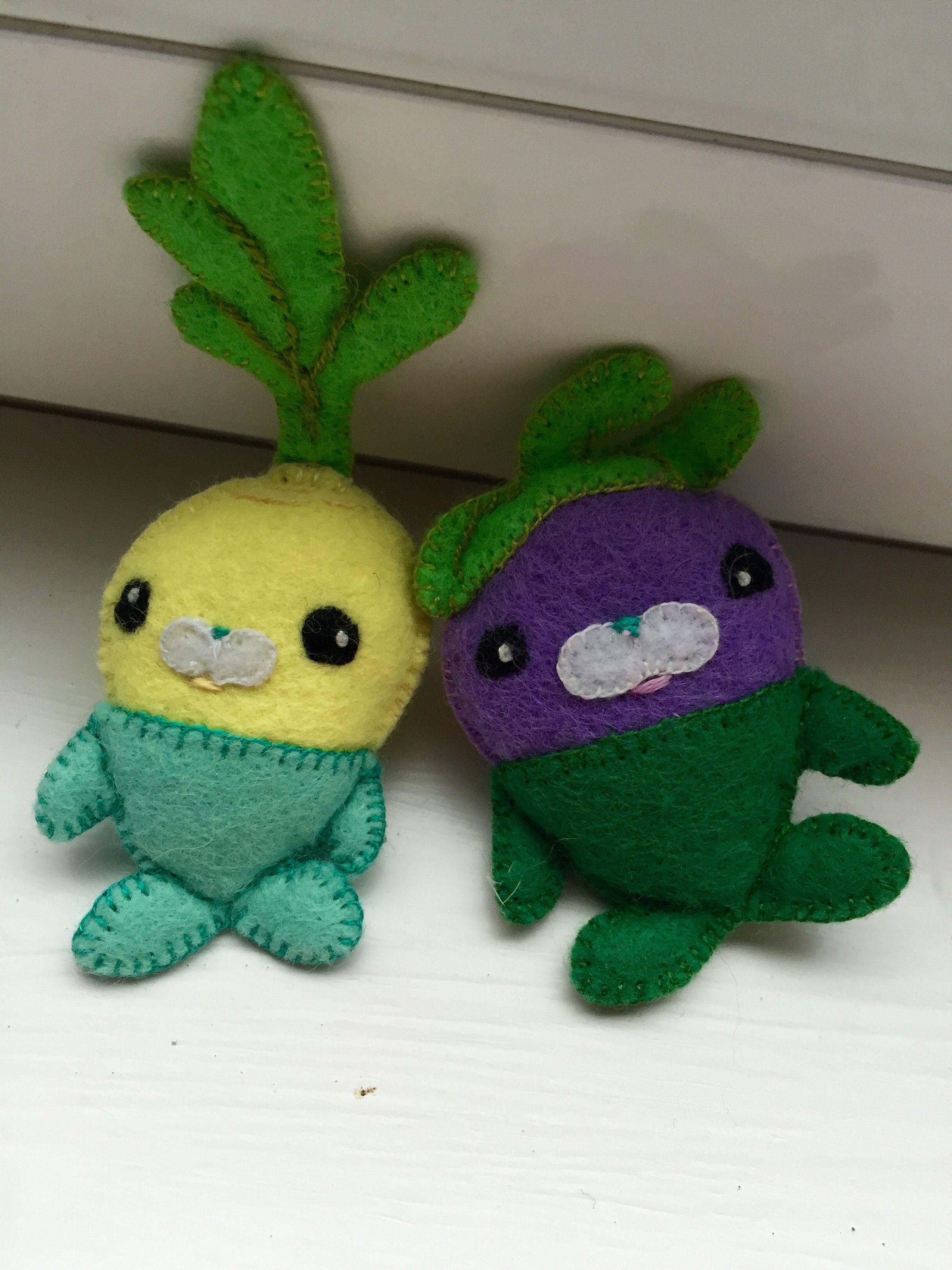 Custom Christmas gift: Tiny felt vegimals! For my Octonauts\' fan ...