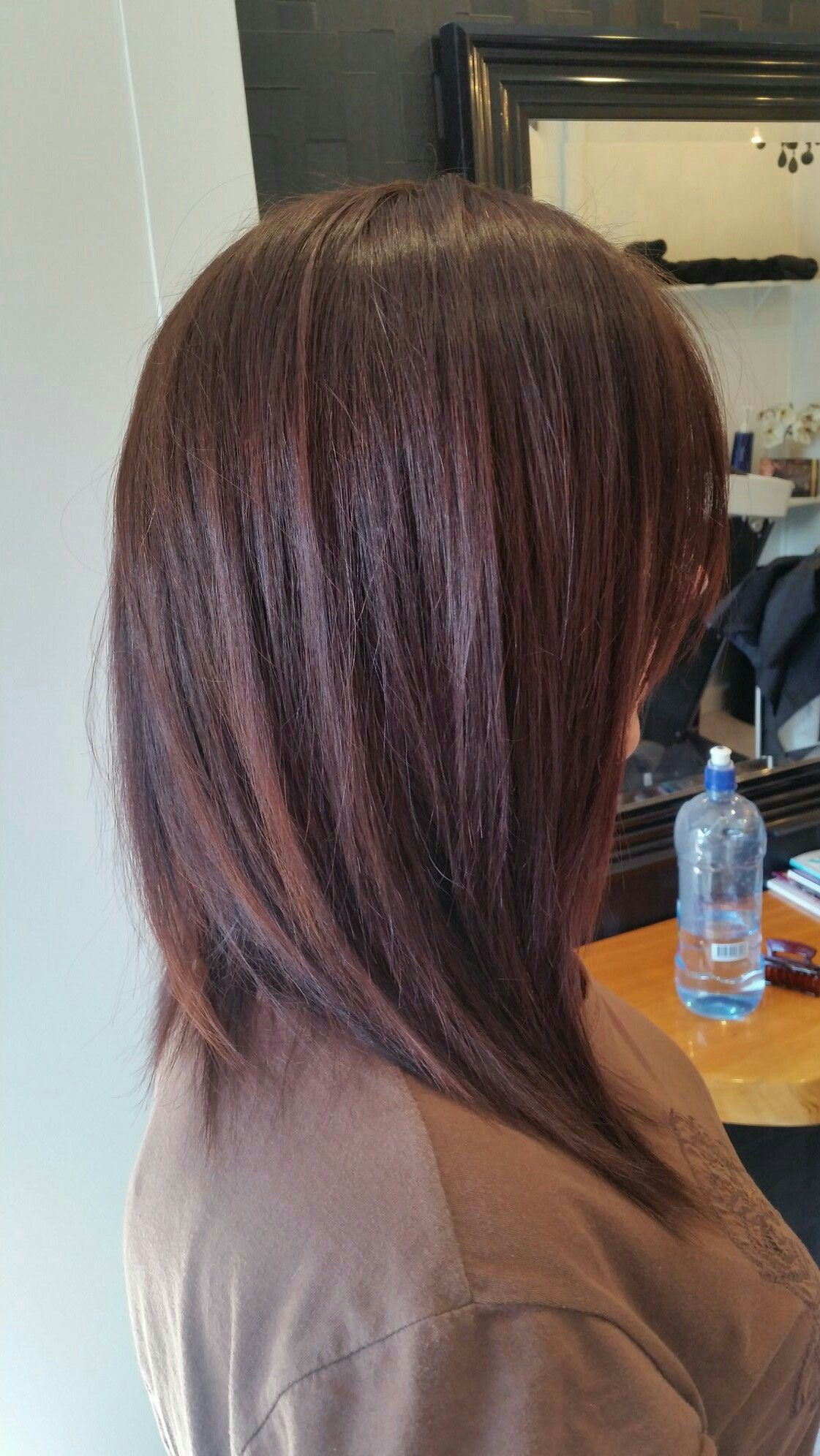 A line textured long bob Hair Pinterest
