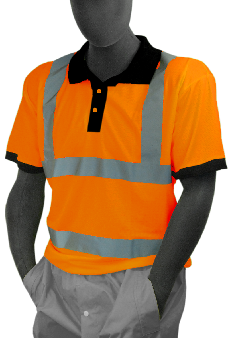 Majestic 75 5312 Hi Vis Orange Polo Shirt Ansi Class 3 Ansi Class