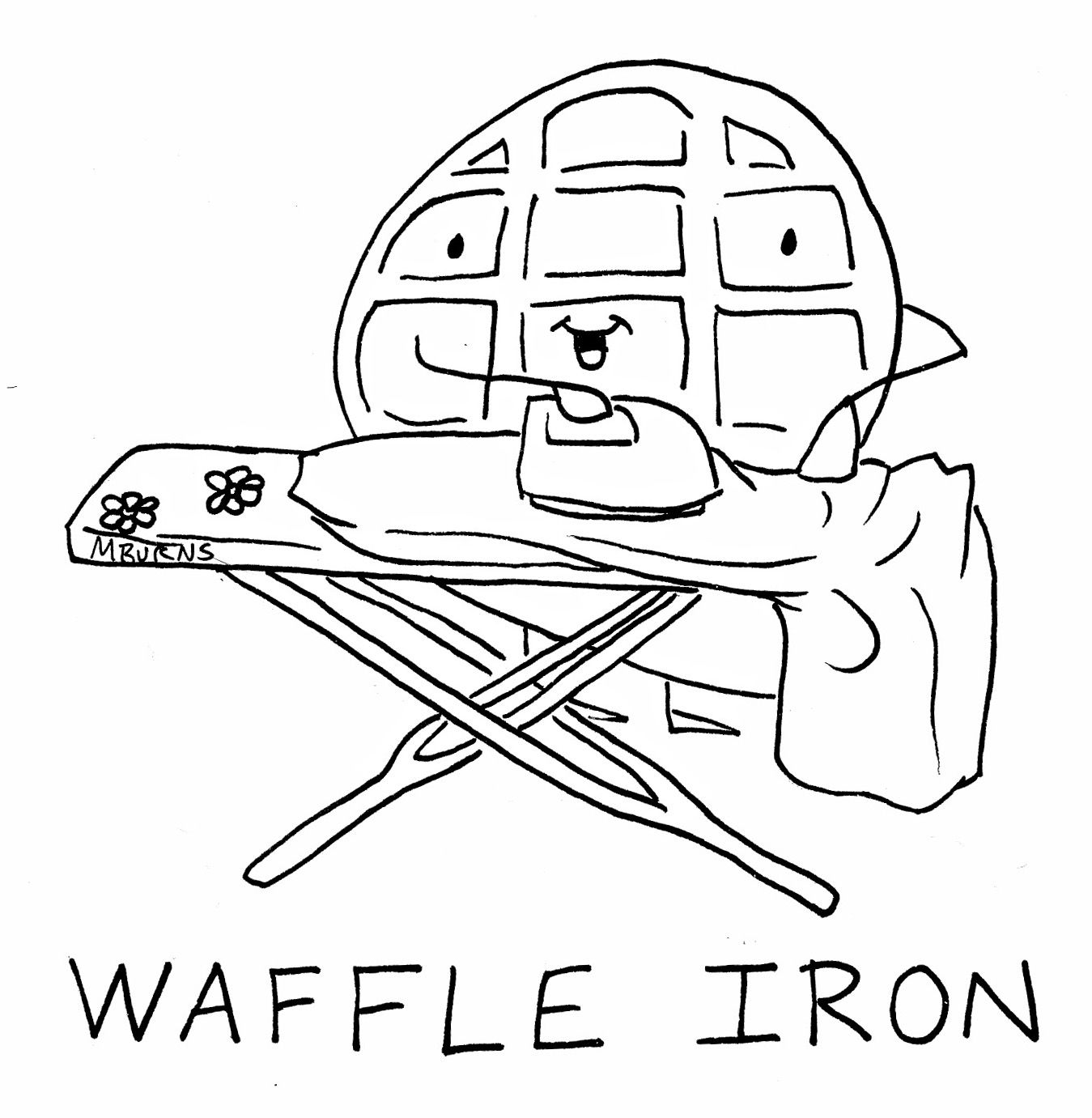 Waffles coloring sheets yahoo image search results for Waffle coloring page