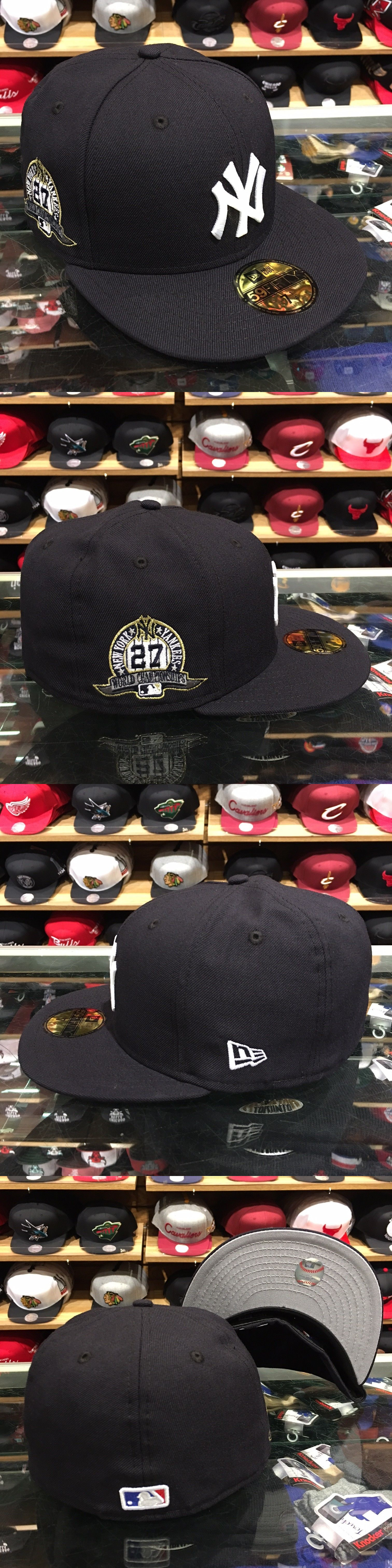 huge selection of b13a4 3c432 ... authentic hats 52365 new era new york yankees fitted hat cap 27 world  series championships patch