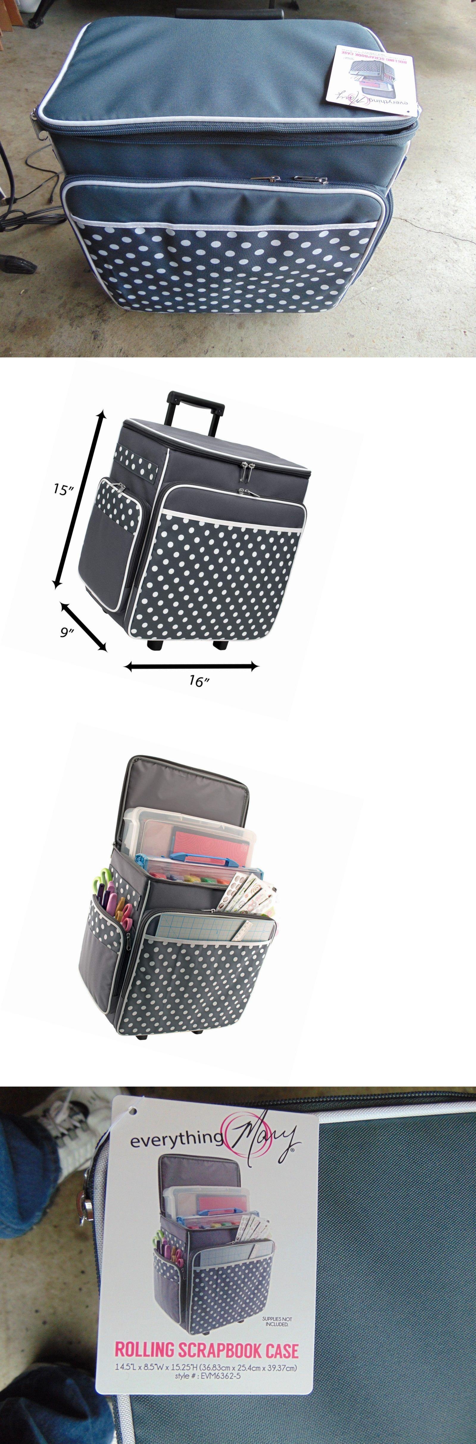Scrapbooking Totes 146401  Everything Mary Grey Polka Dot Rolling Scrapbook  Storage Tote -Scrapbook Case -  BUY IT NOW ONLY   57.99 on  eBay   scrapbooking ... cd3c69b3a1