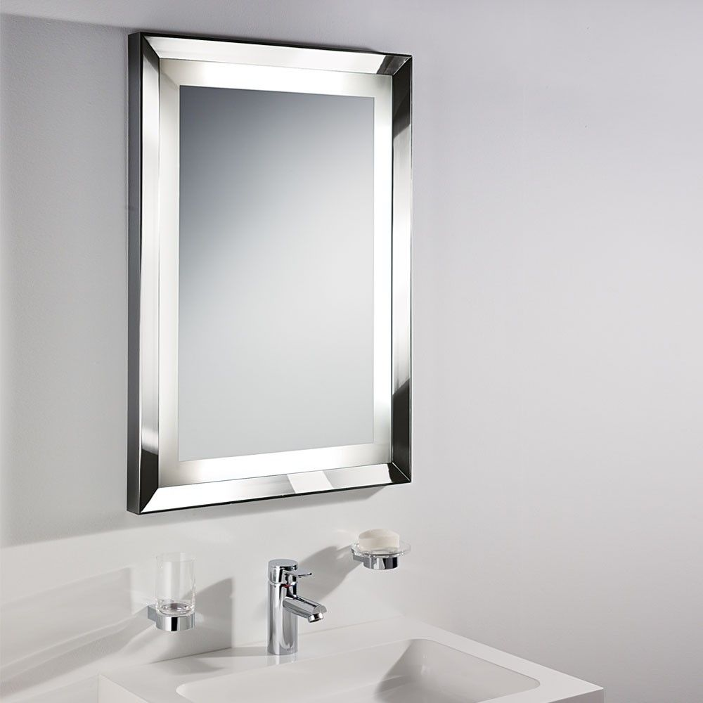 Silver Bathroom Mirror With Shelf | http://drrw.us | Pinterest ...