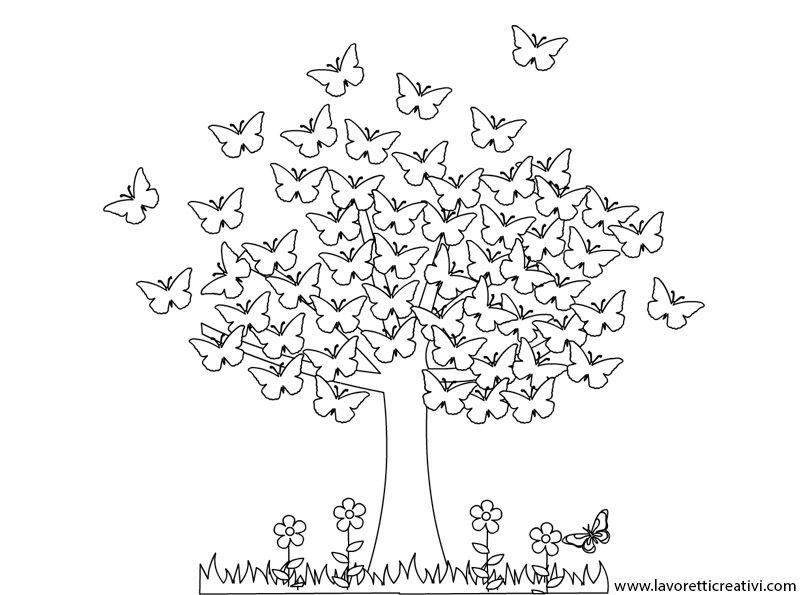 Cartellone primavera albero2 tvo me s d tmi jaro for Primule da colorare