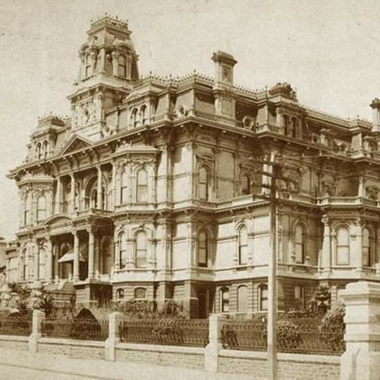 Charles Crocker Mansion Which Stood On Nob Hill In San Francisco From 1876 To 1906 When It Was Destroyed The Great Earthquake And Fire