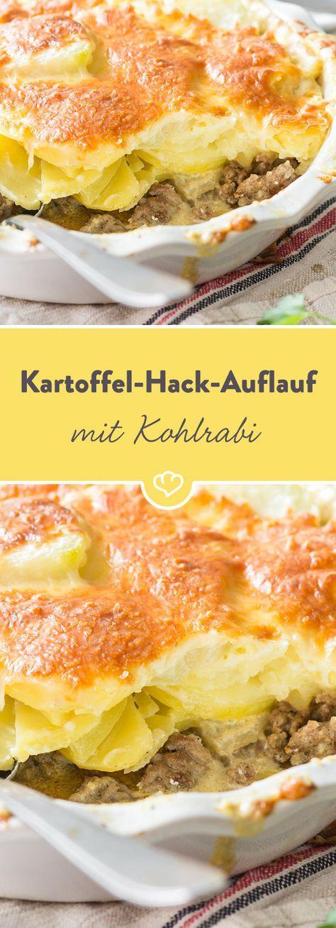 Kartoffel-Hackfleisch-Auflauf mit Kohlrabi | Rezept | Hackfleisch ...
