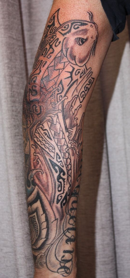 3c2b93523 Tattoo Koi in Maori by fortuna15.deviantart.com on @DeviantArt ...